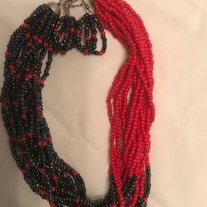 African beads necklace and earrings